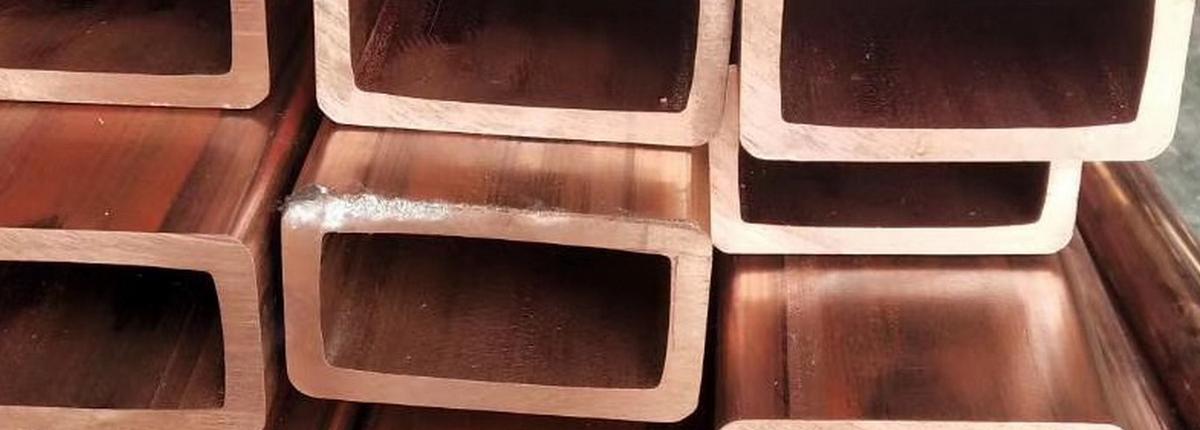 Труба медная прямоугольная 14х10,5х2 М1 бухта